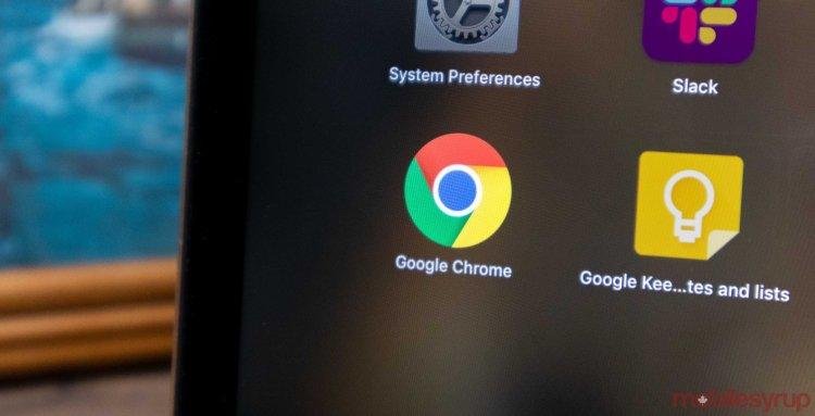 Google chrome desktop header