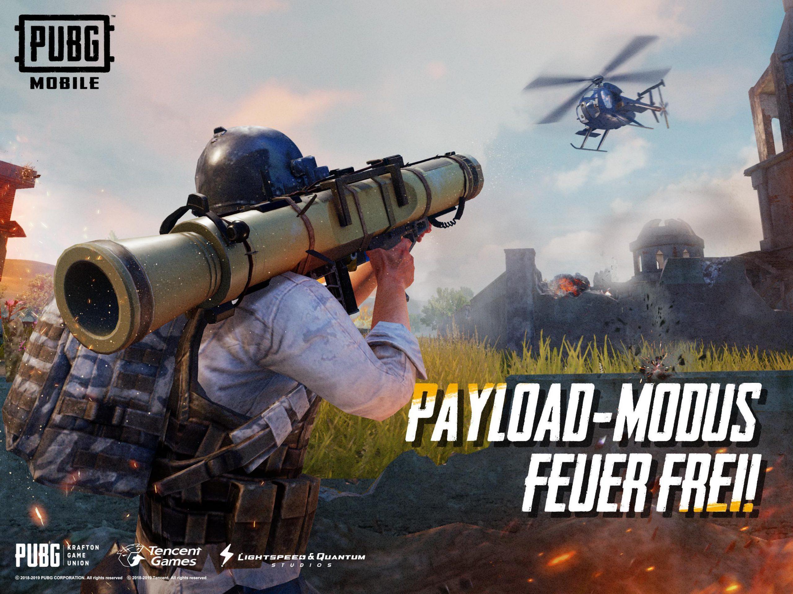 مود جدید Payload بازی پابجی موبایل هلیکوپتر و حمله هوایی را به آن اضافه میکند