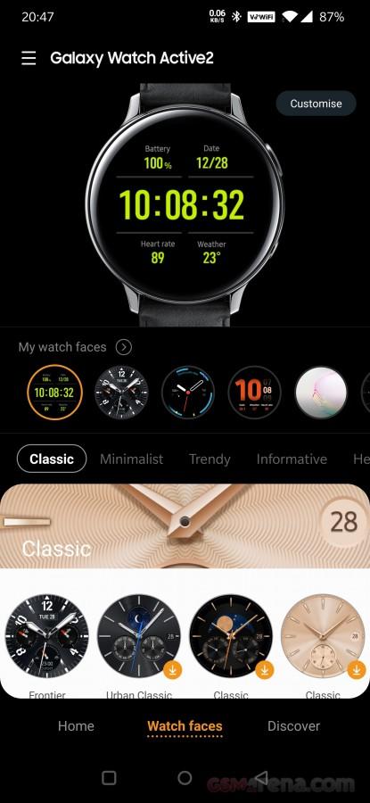 بررسی و نقد ساعت هوشمندGalaxy Watch Active2 32