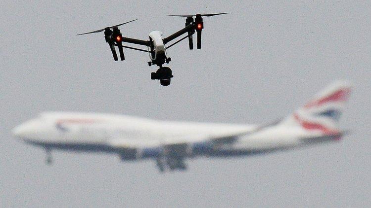skynews drone aircraft airport 4540424