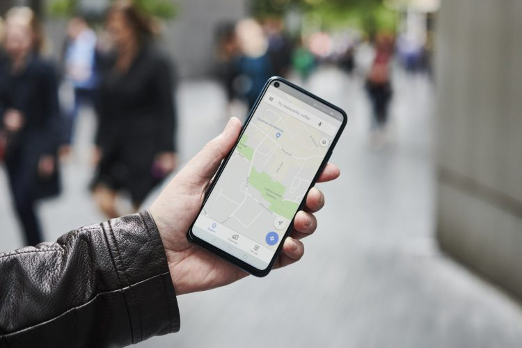 LONDON, UNITED KINGDOM - JUNE 4: Detail of a man holding up an Honor 20 Pro smartphone with the Google Maps app visible on screen, on June 4, 2019. (Photo by Olly Curtis/Future via Getty Images)