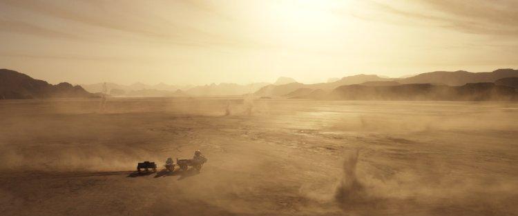 ناسا موفق به ثبت تصویر گردباد دیو گرد و خاک مریخ شد 1