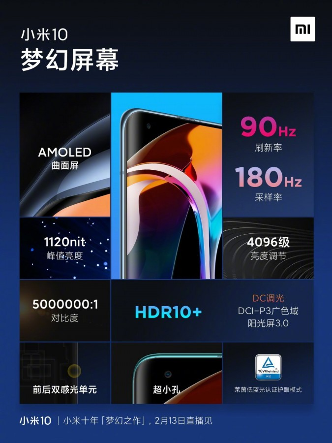 نمایشگر و سرعت شارژ گوشی Mi 10 شیائومی چه مشخصاتی دارند؟