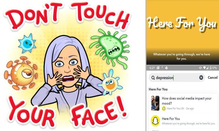 اسنپچت با ابزار جدید سعی دارد اضطراب مربوط به کرونا ویروس را از بین ببرد 1