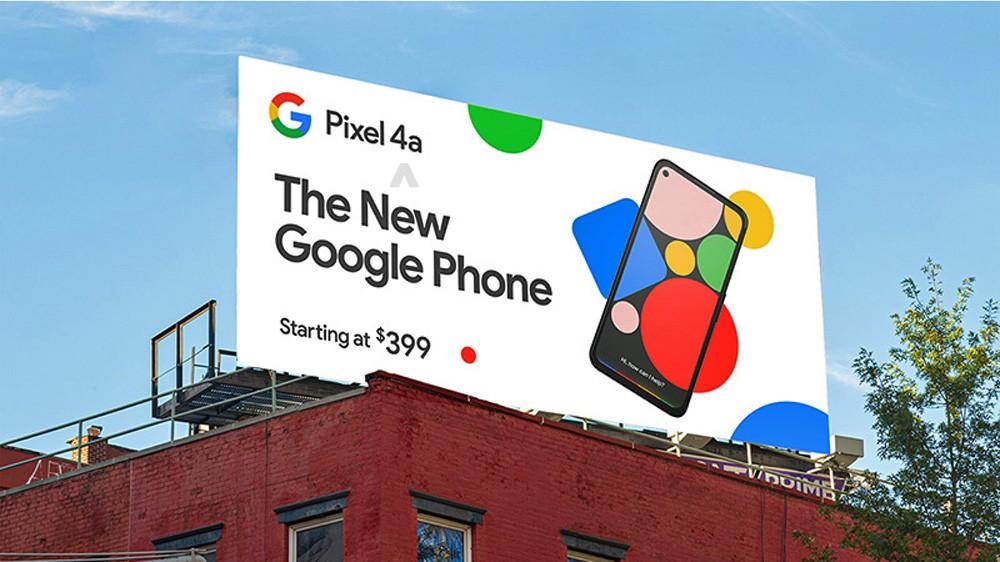 تصاویر گوشی Pixel 4a روی بیلبوردهای تبلیغاتی ظاهر شد 1
