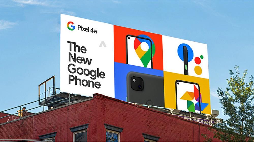 تصاویر گوشی Pixel 4a روی بیلبوردهای تبلیغاتی ظاهر شد 2