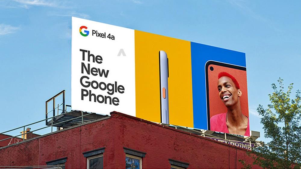تصاویر گوشی Pixel 4a روی بیلبوردهای تبلیغاتی ظاهر شد 3