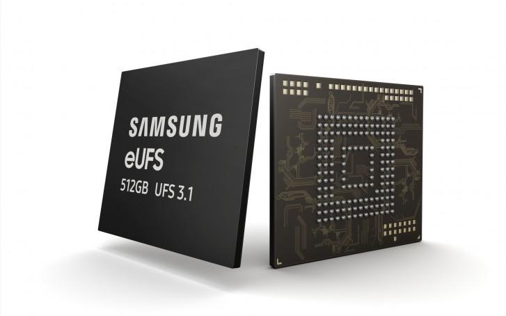 سامسونگ تولید انبوه حافظههای سریع 512 گیگابایت eUFS 3.1 را شروع میکند