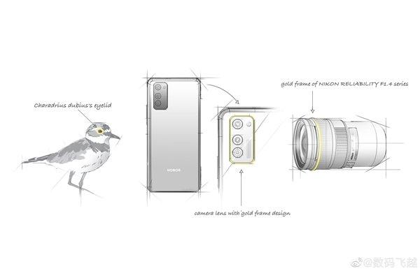 ماژول دوربین عقب گوشی Honor 30s قاب طلایی خواهد داشت!
