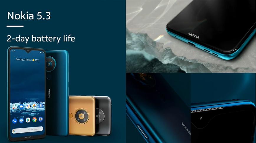 گوشی نوکیا 5.3 معرفی شد؛ نمایشگر و باتری بزرگتر از نسل قبل