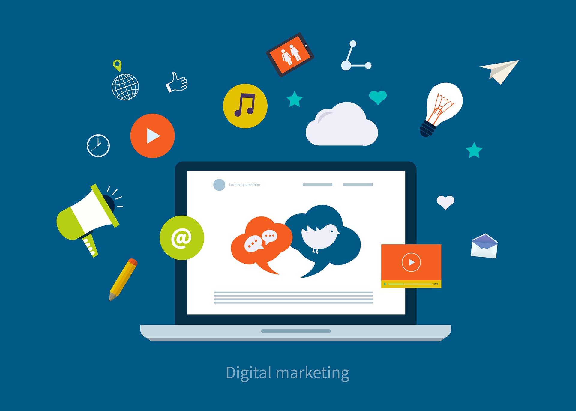 Illustration Digital Marketing