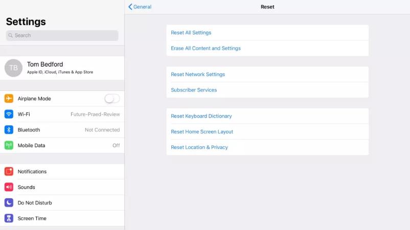 Screenshot 2020 05 07 How to factory reset an iPad