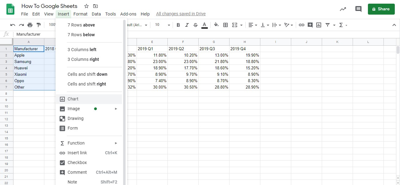 graph in google sheets 2