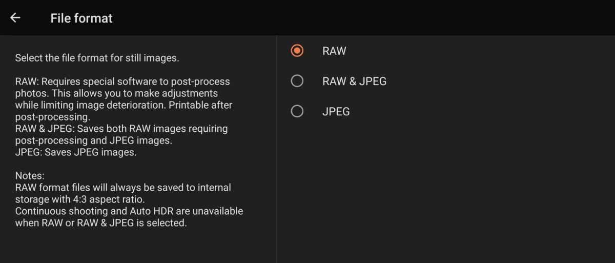 سونی پشتیبانی از فرمت RAW را به گوشی اکسپریا 1 II اضافه میکند
