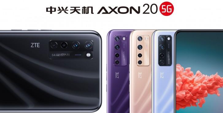 تصاویری جدید و رسمی گوشی ZTE Axon 20 5G با دوربین جلو زیر نمایشگر منتشر شد