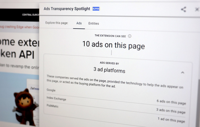 جدیدترین افزونه کروم اطلاعات مربوط به تبلیغات هر سایت را نشان میدهد