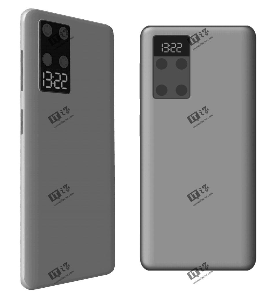 پتنت جدید هوآوی یک گوشی هوشمند با نمایشگر کوچک در عقب را نشان میدهد