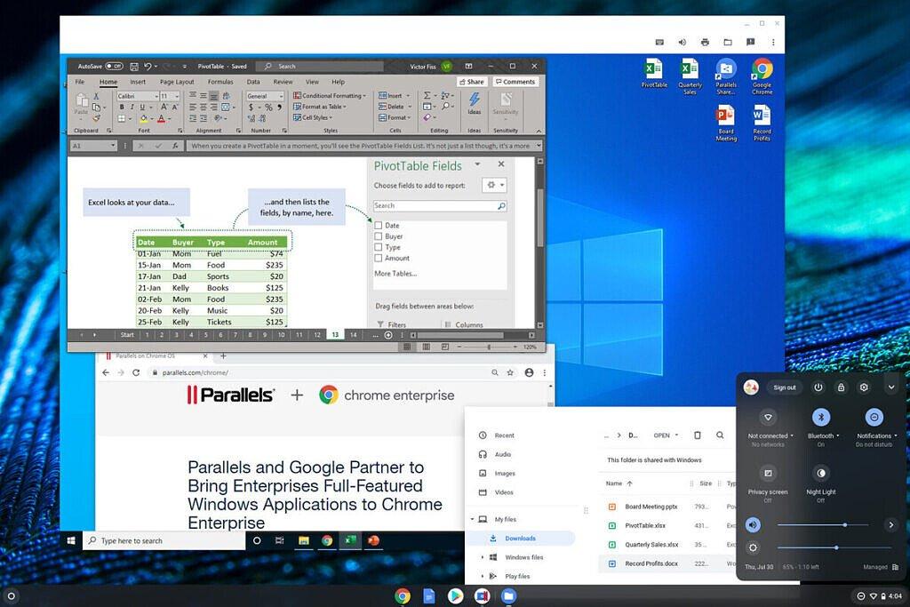 کاربران کروم بوک به زودی میتوانند از نرمافزارهای ویندوزی استفاده کنند