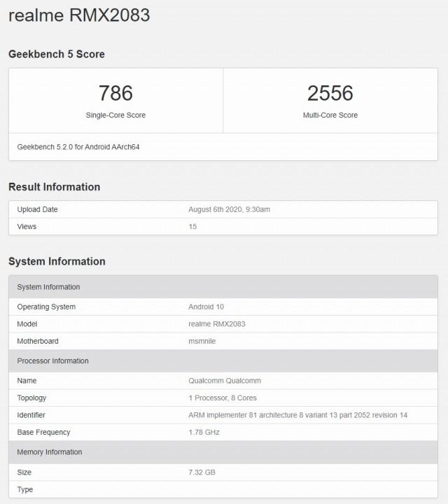 گوشی ریلمی X3 پرو در بنچمارک Geekbench رویت شد
