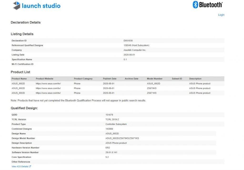 گوشی زن فون 7 ایسوس مجوز سازمان بلوتوث را به دست آورد
