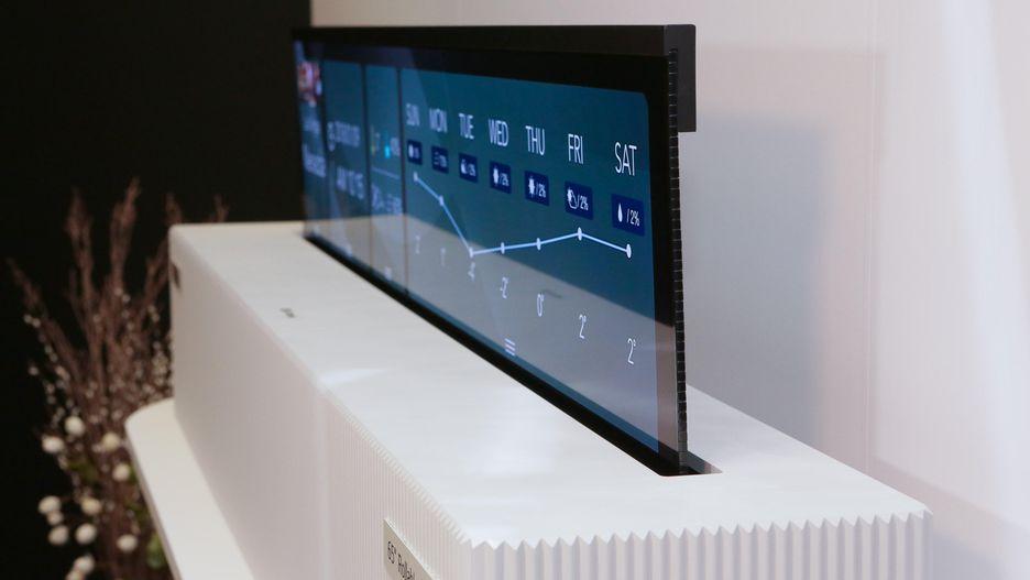 روکیدا - LG از صفحه نمایش انعطافپذیر رولی خود رونمایی کرد! - LG, ال جی