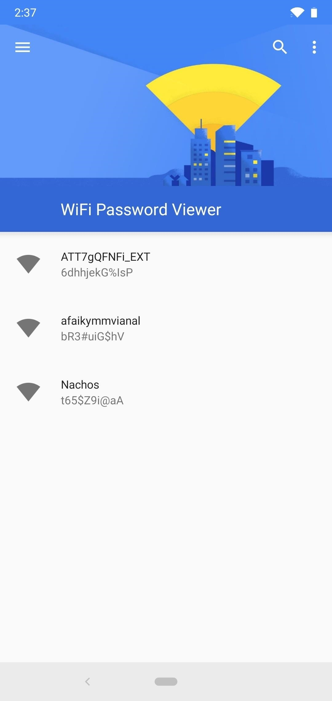see passwords for wi fi networks youve connected your android device.w1456 1 2