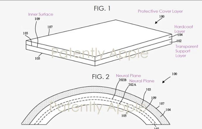 درخواست ثبت پتنت اپل برای تلفن هوشمند خم شونده