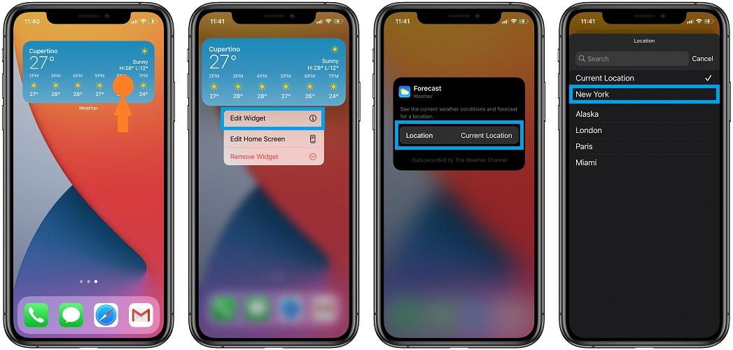 روکیدا | چگونه موقعیت مکانی ویجت آب و هوا را در 14 iOS اصلاح کنیم؟ | iOS 13, ios 14 آیفون, آیفون, اپل