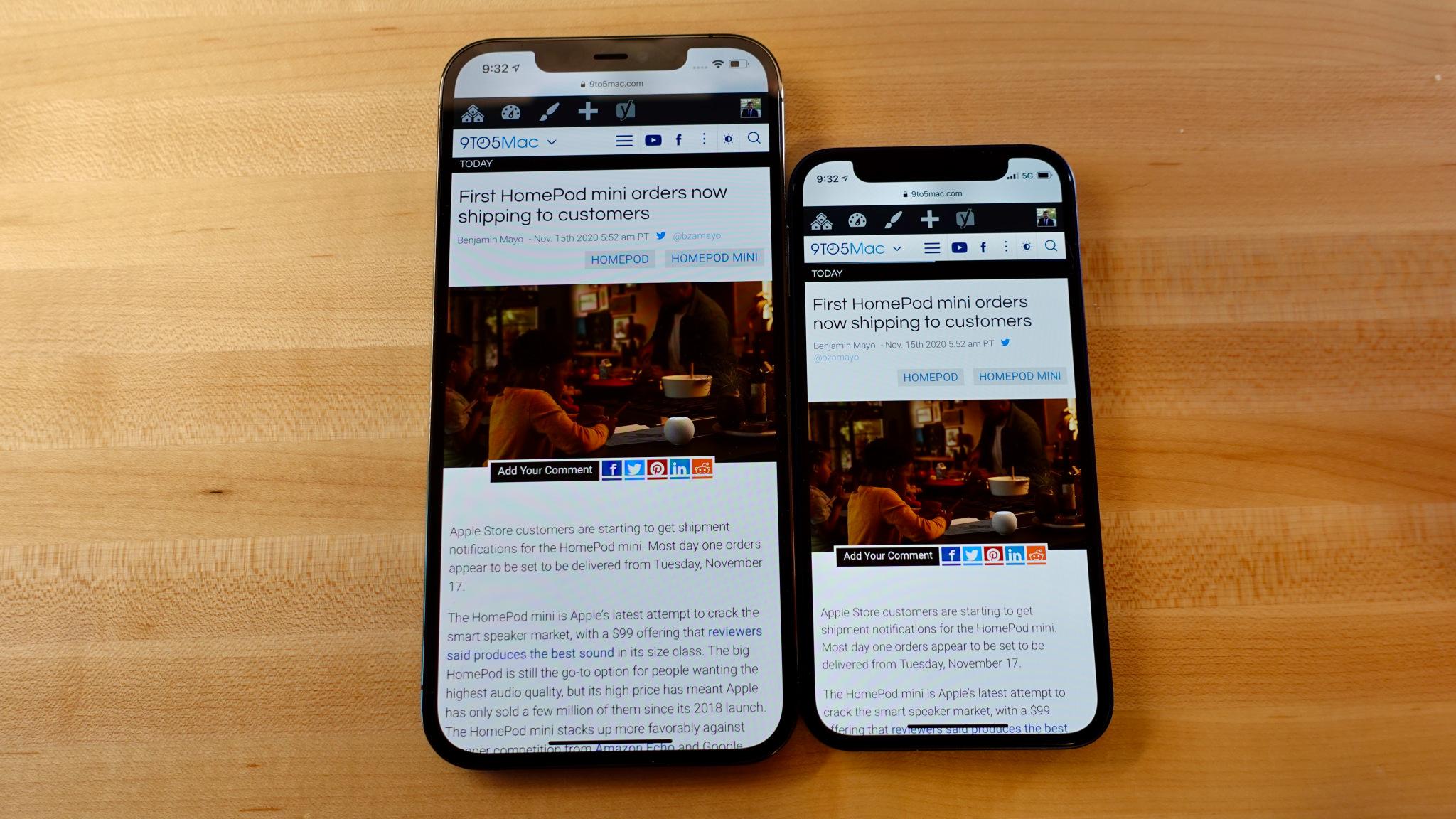 iPhone 12 mini vs iPhone 12 Pro Max0013 1