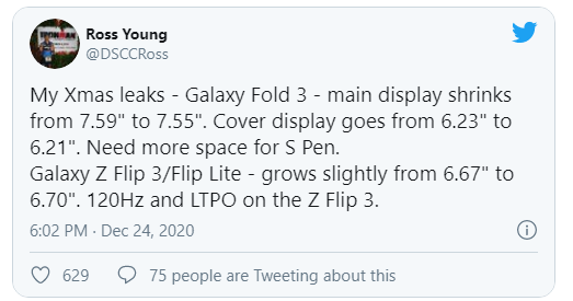سامسونگ به دنبال انقلابی در نمایشگر گلکسی Z فولد 3 است؟