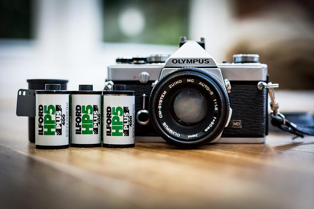 Olympus camera and Ilford film