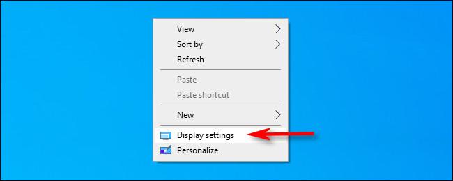 click display Settings
