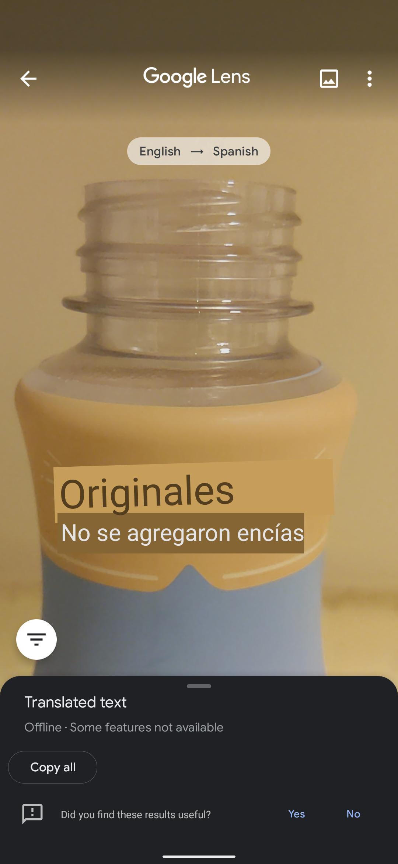 Google Lens translate offline 4