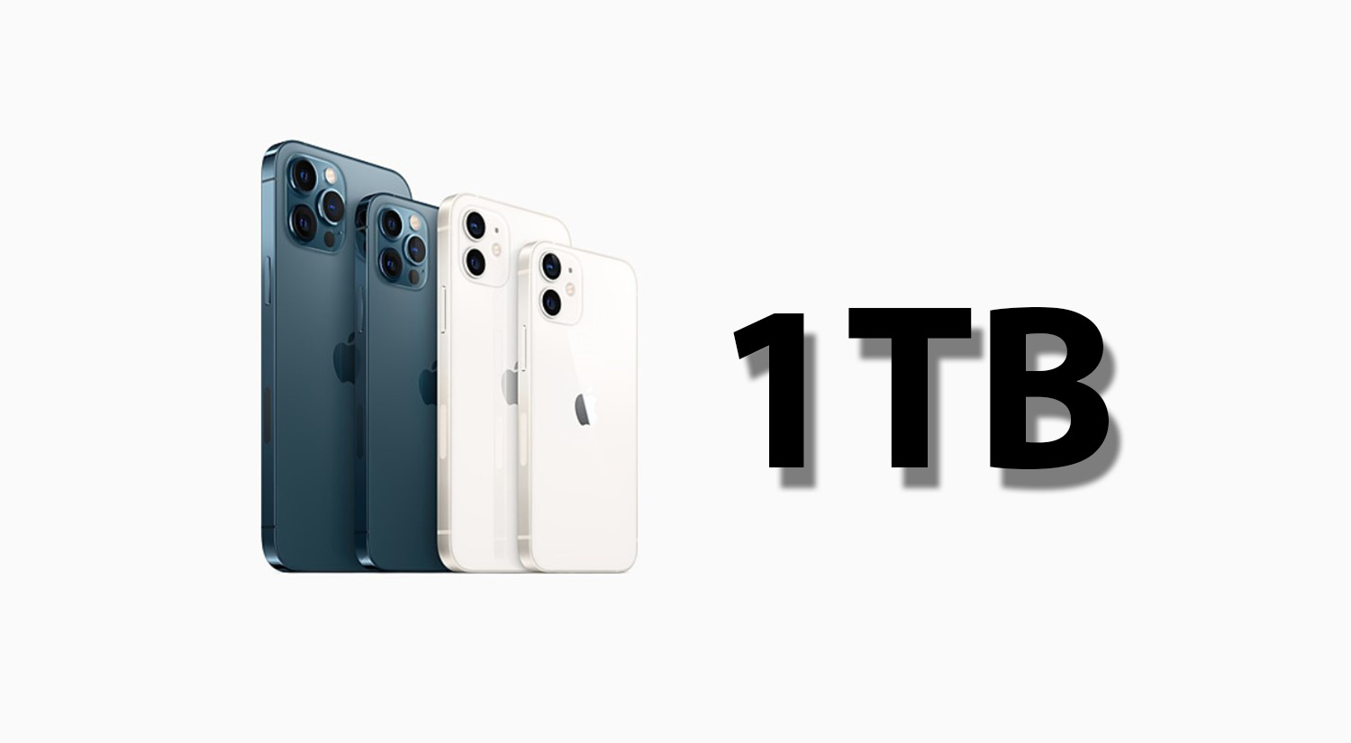 iPhone 13 with 1TB storage models