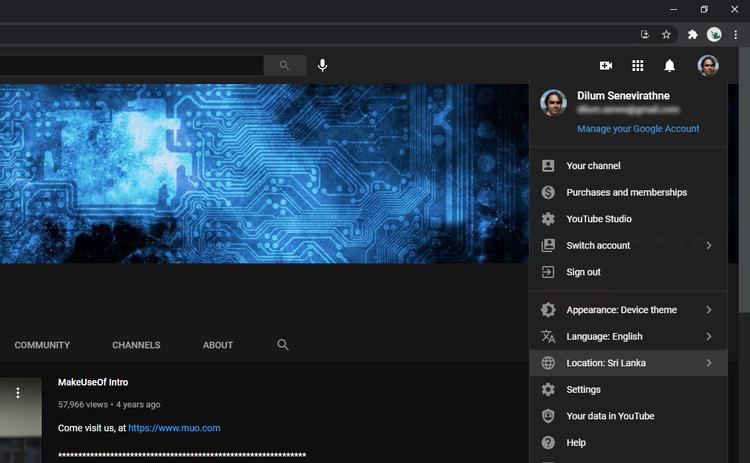 تغییر لوکیشن یوتیوب