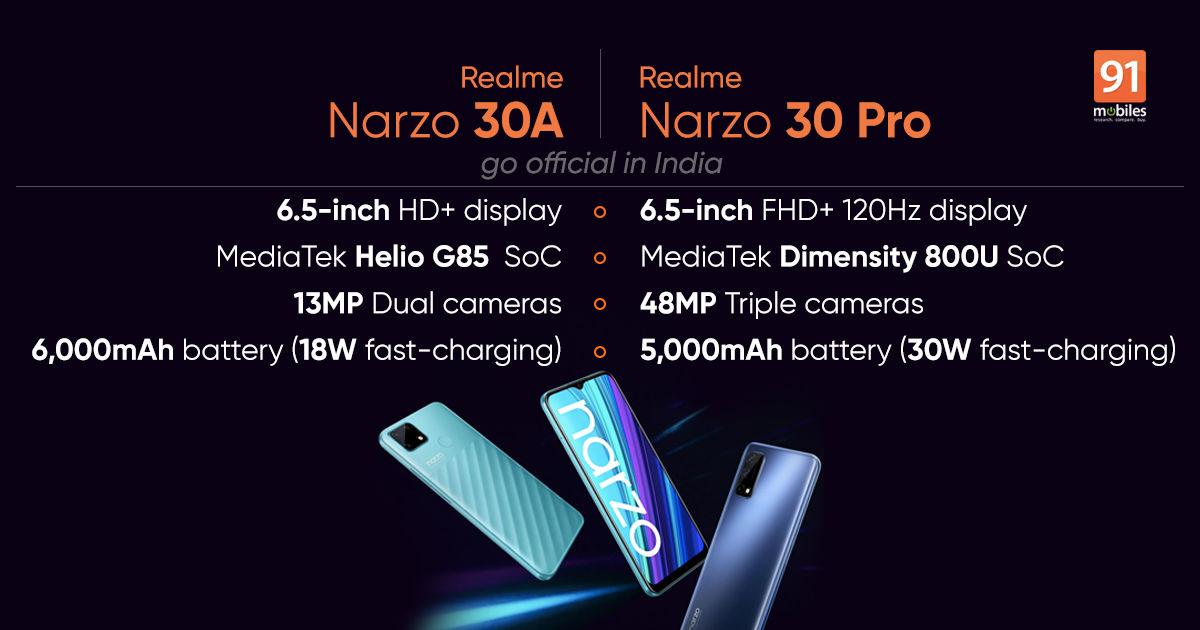 Realme Narzo 30 Pro and 30A 1