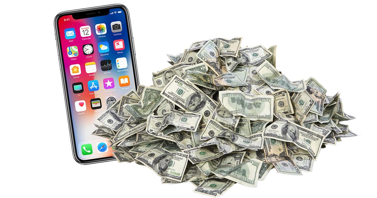 iphone x money