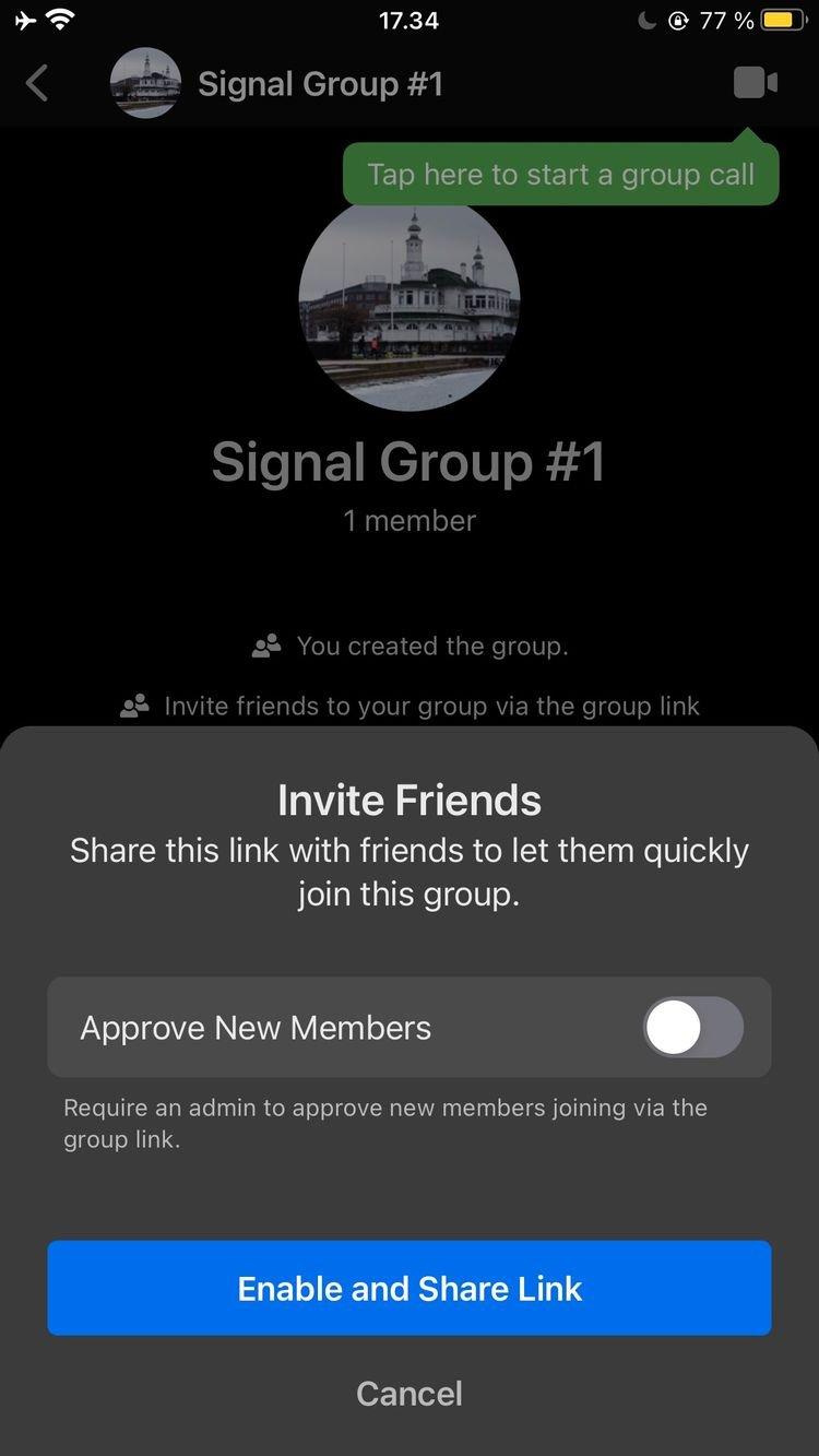 signal invite members 1