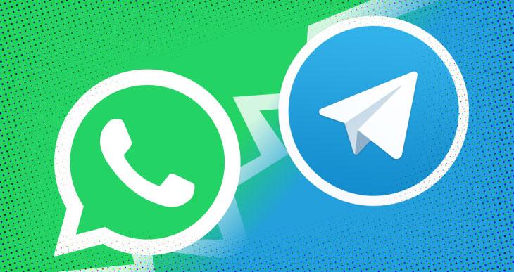 تلگرام و واتساپ