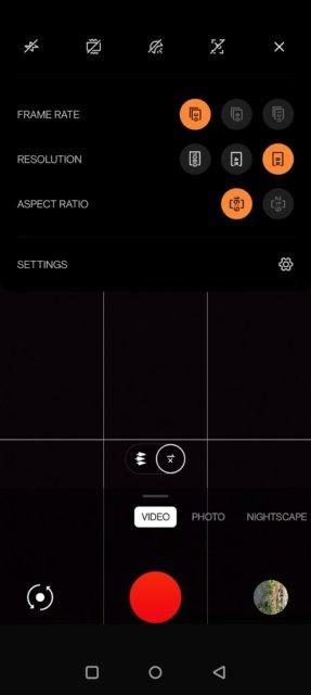 اسکرین شات اپلیکیشن دوربین وان پلاس 9 پرو 1