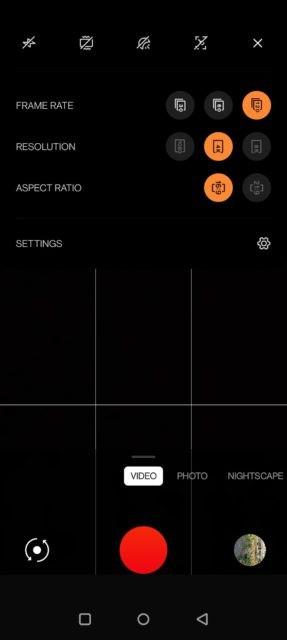 اسکرین شات اپلیکیشن دوربین وان پلاس 9 پرو