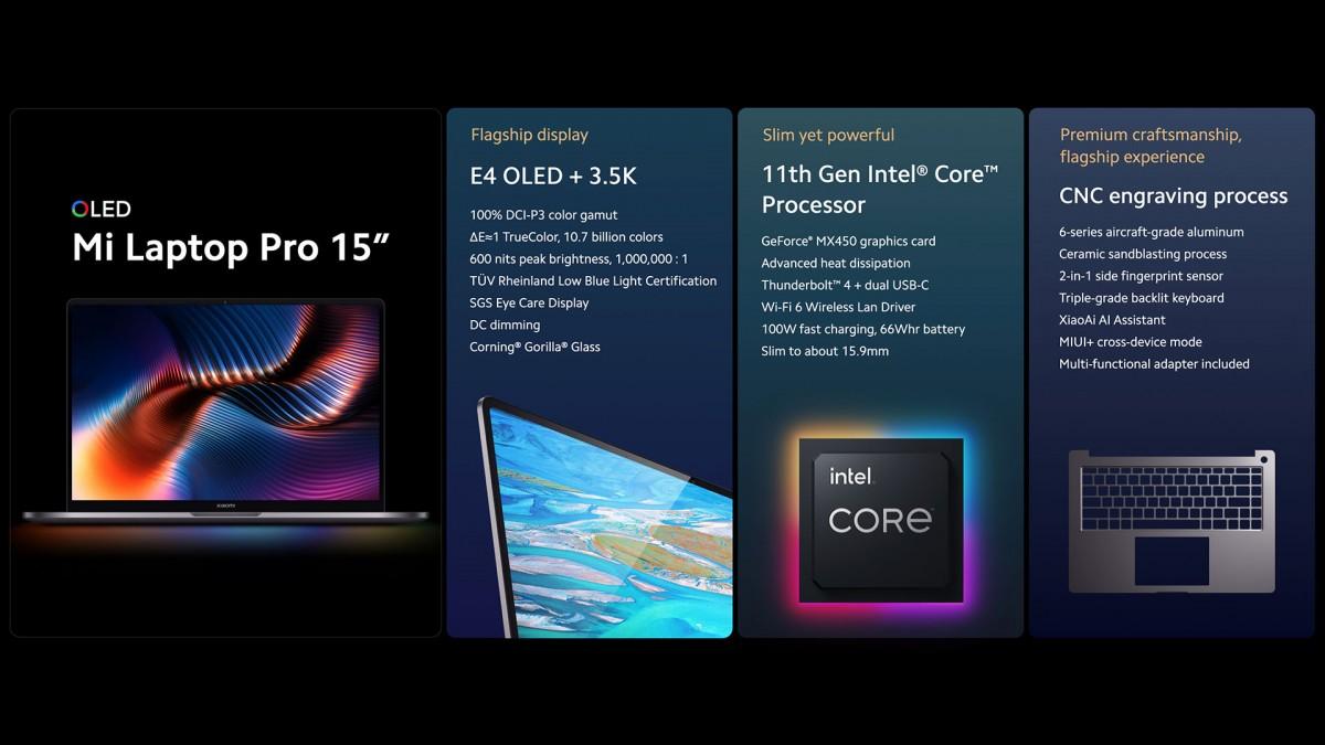 لپ تاپ 15 و 14 اینچی Mi Laptop Pro جدید شیائومی چه مشخصاتی دارند؟