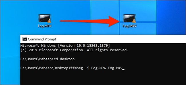 تبدیل فایلهای رسانهای با کمک Command Prompt