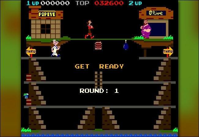 بازی Popeye نینتندو با رزولوشن 512×448 برای دهه 1982 رزولوشن بالایی داشت اما برای کار کردن نیاز به یک سیستم آرکید گران قیمت و یک مانیتور مخصوص داشت.