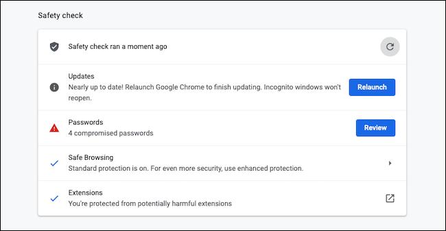 بررسی امنیت در گوگل کروم