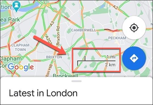 مقیاس گوگل مپ