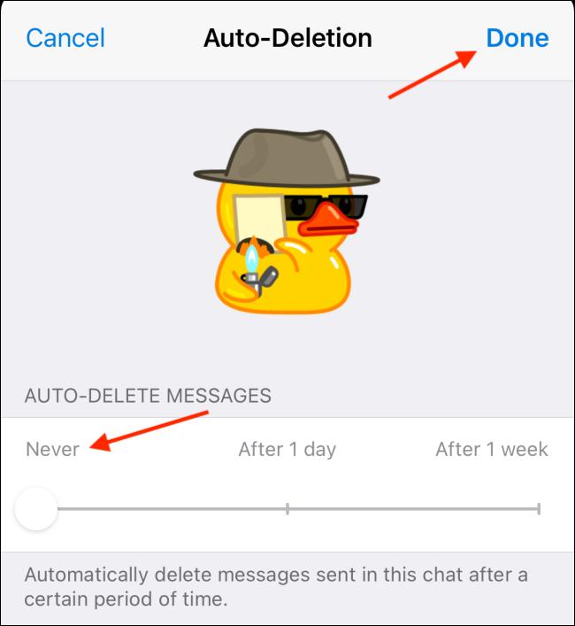 غیرفعال کردن حذف پیام