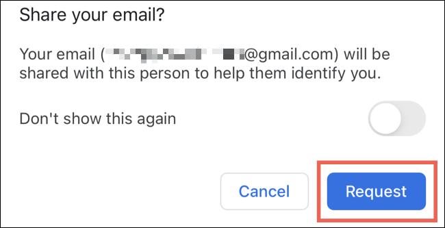 ایمیل اشتراک گوگل مپ