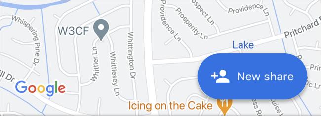 اشتراک جدید گوگل مپ