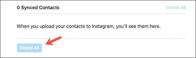 آموزش حذف دفترچه تلفن از اینستاگرام